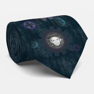 O Grunge azul alinha o laço dos quadros da foto Gravata