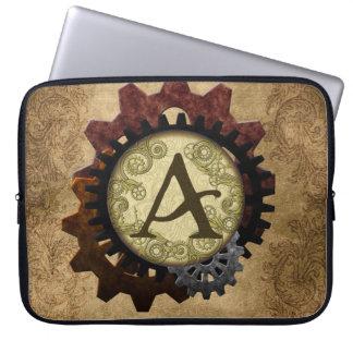 O Grunge Steampunk alinha a letra A do monograma Capa Para Computador