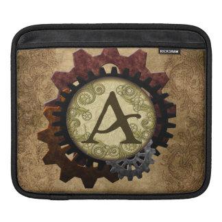 O Grunge Steampunk alinha a letra A do monograma Capas Para iPad