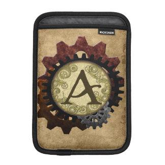 O Grunge Steampunk alinha a letra A do monograma Capas Para iPad Mini