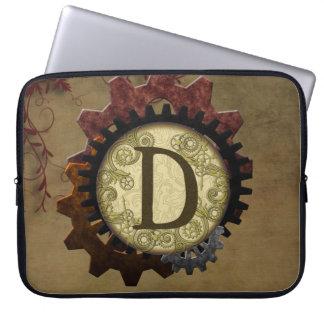 O Grunge Steampunk alinha a letra D do monograma Capa Para Computador
