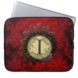 O Grunge Steampunk alinha a letra do monograma mim Bolsa E Capa De Notebook