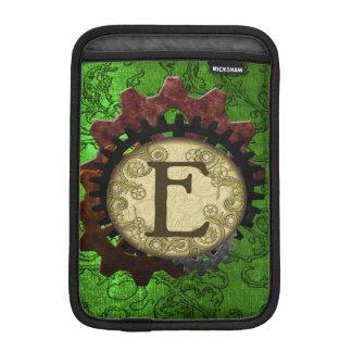 O Grunge Steampunk alinha a letra E do monograma Luvas De iPad Mini