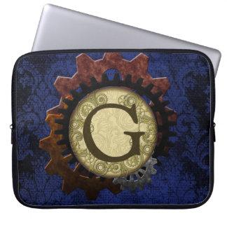 O Grunge Steampunk alinha a letra G do monograma Bolsa E Capa Para Computadore