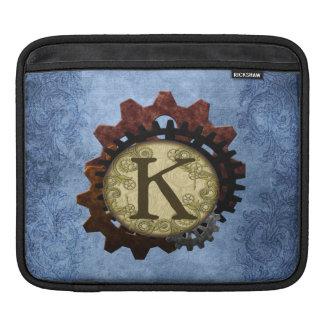 O Grunge Steampunk alinha a letra K do monograma Capas Para iPad