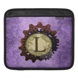 O Grunge Steampunk alinha a letra L do monograma Capas Para iPad