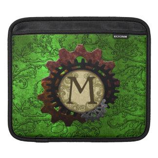 O Grunge Steampunk alinha a letra M do monograma Bolsa De iPad