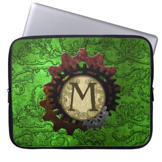O Grunge Steampunk alinha a letra M do monograma Capa Para Laptop