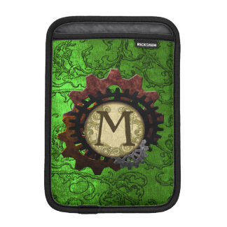 O Grunge Steampunk alinha a letra M do monograma Capas Para iPad Mini