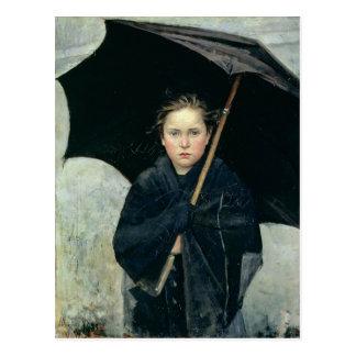 O guarda-chuva pelo cartão de Marie Bashkirtseff