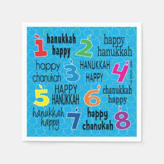 "O guardanapo de Hanukkah personaliza ""Hanukkah"