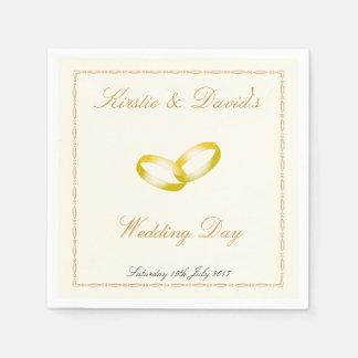 O guardanapo de papel Wedding & juntou-se aos