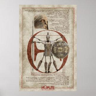 O guerreiro incansável O do Hoplite Poster