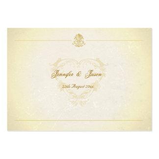 O Guestbook do casamento carda o papel de pergamin Cartões De Visita