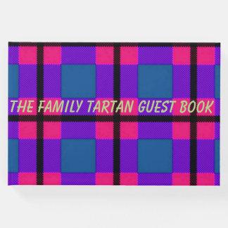 o Guestbook do tartan da família Livro De Visitas