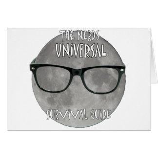 O guia de sobrevivência universal dos nerd cartão comemorativo