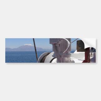 O guincho e a costa africana do navio adesivo para carro