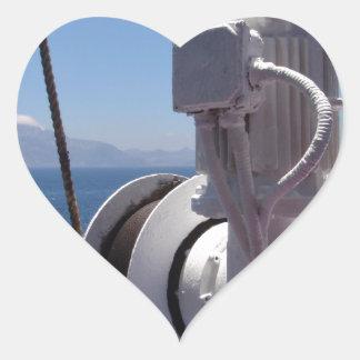 O guincho e a costa africana do navio adesivo em forma de coração
