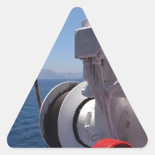 O guincho e a costa africana do navio adesivos