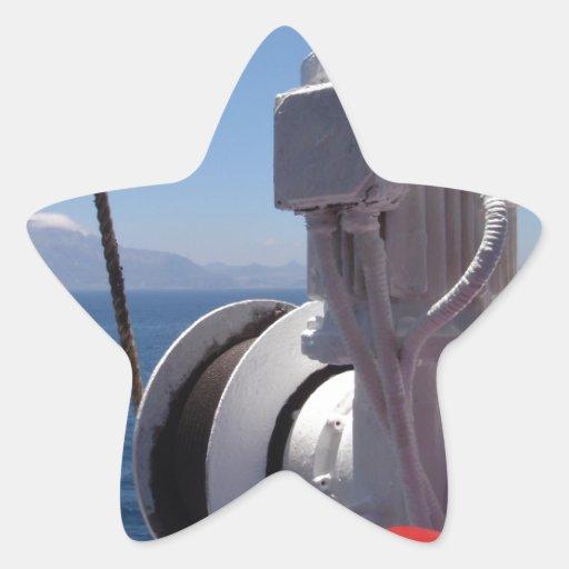 O guincho e a costa africana do navio adesivos em forma de estrelas