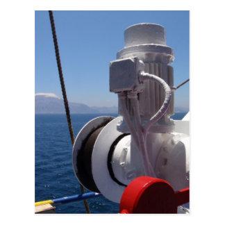 O guincho e a costa africana do navio cartao postal