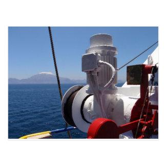 O guincho e a costa africana do navio cartão postal