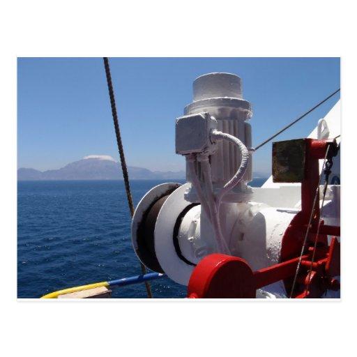 O guincho e a costa africana do navio cartoes postais