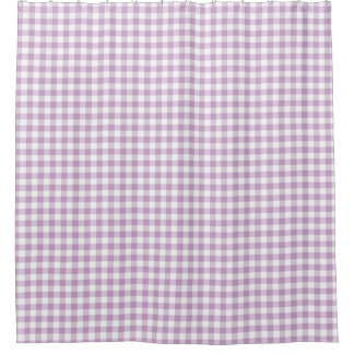 O guingão branco do Lilac (luz - roxo) verifica Cortinas Para Chuveiro