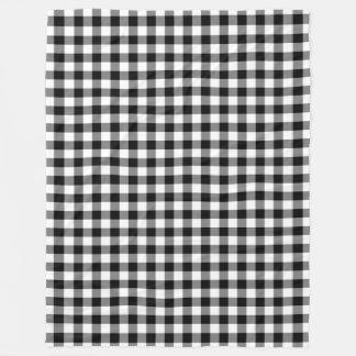 O guingão preto e branco verifica os quadrados cobertor de lã
