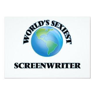 """O guionista o mais """"sexy"""" do mundo convite personalizados"""