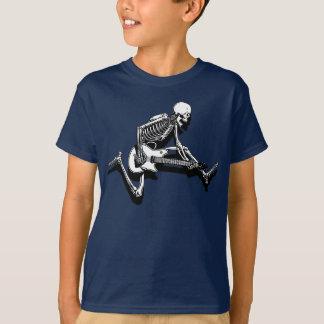 O guitarrista de esqueleto salta t-shirt