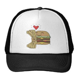 O hamburguer ama fritadas bone