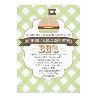 O hamburguer verde acopla convites do chá de