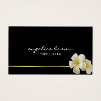 O Hawaiian branco floresce o cartão de visita