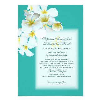 O Hawaiian branco floresce o convite de casamento