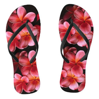 O Hawaiian cor-de-rosa floresce chinelos