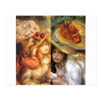O headwear das mulheres é obra-primas na arte de cartão postal