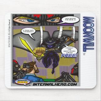 O herói interno apresenta o tapete do rato de Moon Mousepad