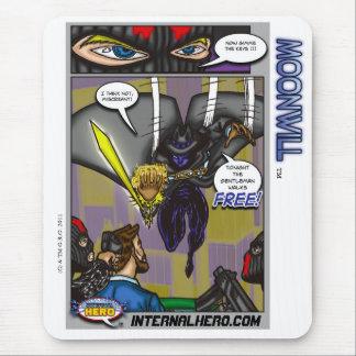 O herói interno apresenta o tapete do rato de mousepad