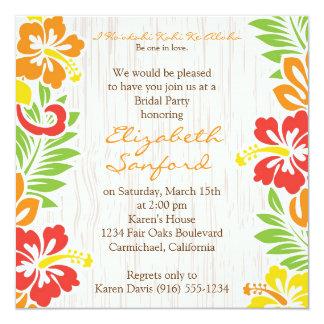O hibiscus havaiano floresce o convite