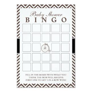 O hipster Chevron listra cartões do Bingo do chá Convite 8.89 X 12.7cm