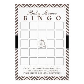 O hipster Chevron listra cartões do Bingo do chá d Convites