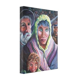 O holocausto impressão em canvas
