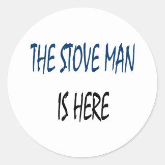 O homem do fogão está aqui adesivo