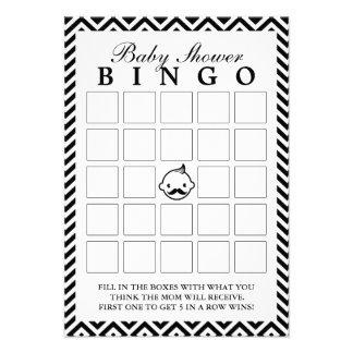 O homem pequeno Chevron listra cartões do Bingo do Convite Personalizado