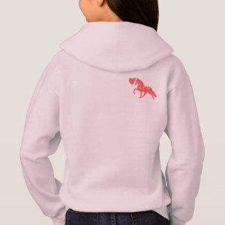 O hoodie bonito de crianças de amor do pônei