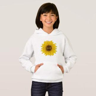 o hoodie das meninas alegres do girassol com nome