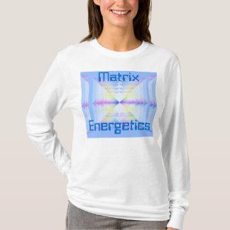 o hoodie das mulheres da energética da matriz camiseta