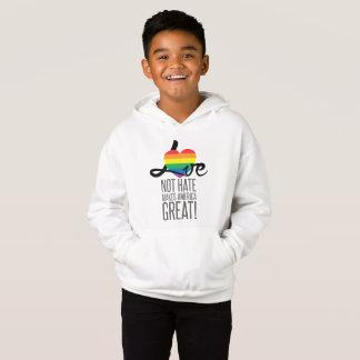 O Hoodie do menino do ódio do amor não (arco-íris)