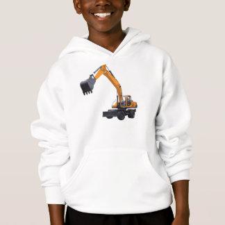 O Hoodie do miúdo da máquina escavadora